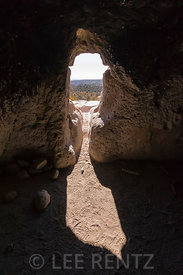 Entrance to Room Carved-out of Tuff in Bandelier National Monument