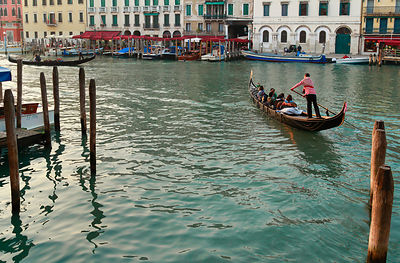 Italy, Venice, People in a gondola