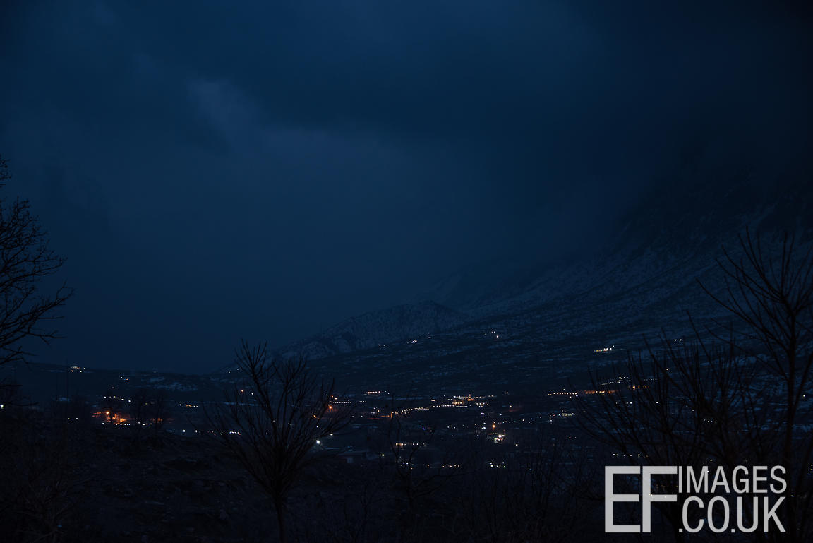 Night Falling In The Mountains Of Iraq