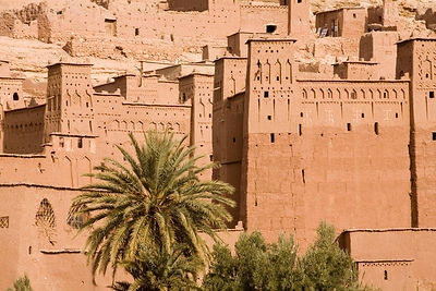 The Kasbah at Ait Benhaddou. The Kasbah is one of the best preserved in the region and has been the setting for numerous film...