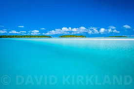 Looking towards One Foot Island,  Aitutaki Lagoon
