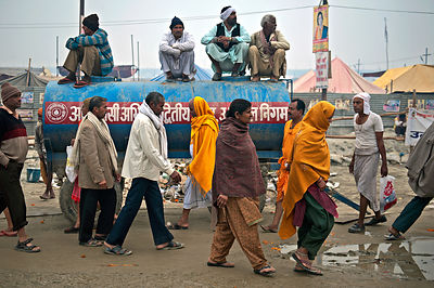 A common scene during the Kumbh Mela. This photograph was shot in Allahabad.
