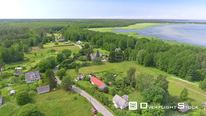 Altja beautiful coast and countryside, aerial view of Estonia