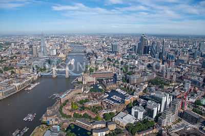 London, aerial view of St Katharine Docks