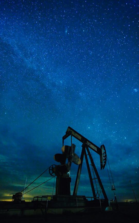 Pump Jack and Milky Way