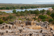 View over the Lugenda river, Niassa Game Reserve, Mozambique