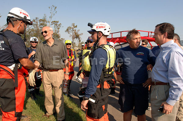 Michael Chertoff with search and rescue team in New Orleans