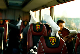 Vardar during the Final Tournament - Final Four - SEHA - Gazprom league, team arrival in Varazdin, Croatia, 30.03.2016, ..Ma...
