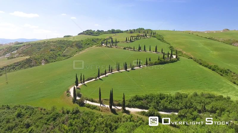 Lucciolabella Natural Reserve, Tuscany. Beautiful Winding Road Italy