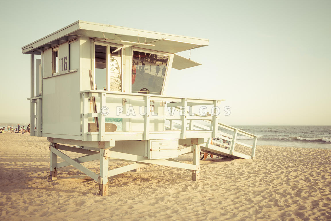 Lifeguard Tower 16 Santa Monica California Photo