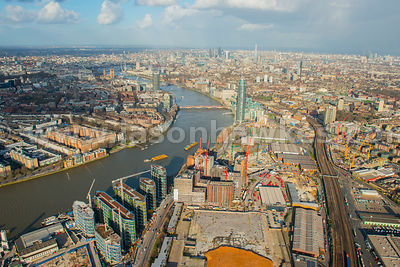 Aerial view of Nine Elms regeneration, London