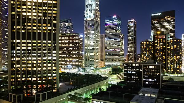 Medium Shot: An Intimate Symphony of Concrete & Light - 75° Pan Within The Heart Of Downtown L.A.