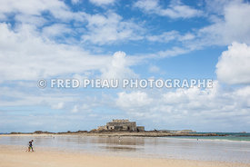 Plage du Sillon, Fort National à Saint-Malo