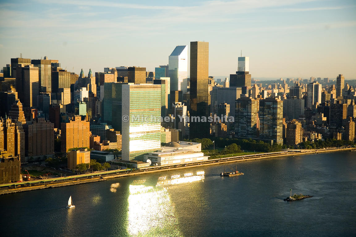 Midtown, along the East River, is a modernist vision, with the Secretariat of the United Nations, Citigroup Center and Trump ...