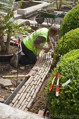 Build Up Chelsea Flower Show, Week Two.  Building a Gold-winning garden designed by Tom Stuart-Smith, 2010. Construction by C...