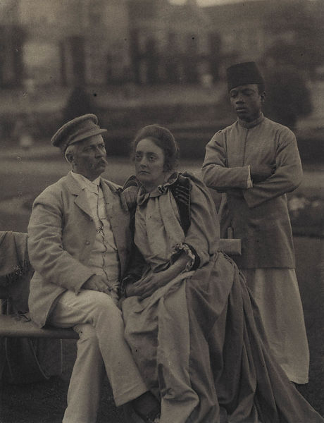 Sir Henry Morton Stanley; Dorothy (née Tennant), Lady Stanley and 'Sali' by Eveleen Myers (née Tennant) platinum print, 1890 ...