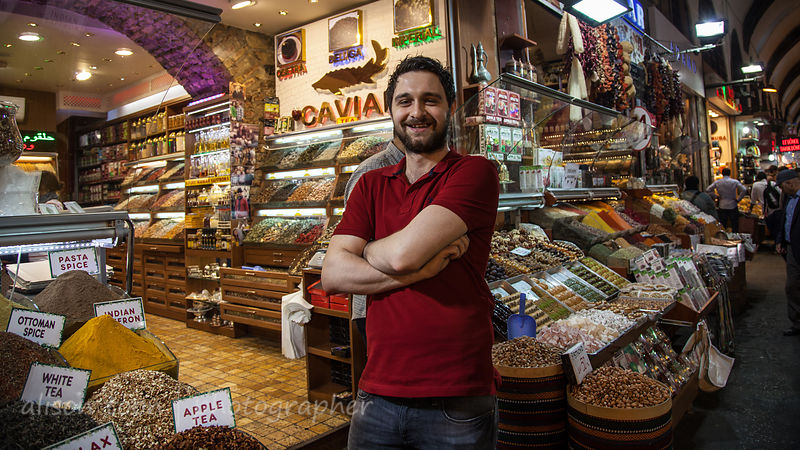 Friendly shopkeepers in the spice market, Istanbul
