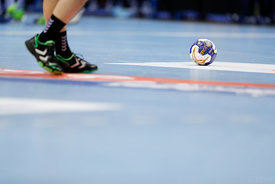Ball during the Final Tournament - Final Four - SEHA - Gazprom league, Bronze Medal Match Meshkov Brest - PPD Zagreb, Belarus...