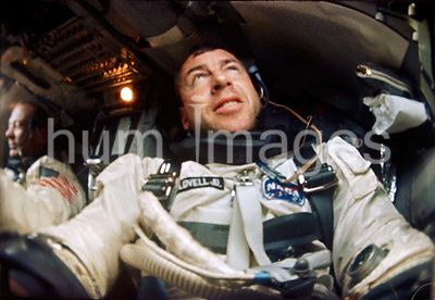 (12 Nov. 1966) --- Astronaut James A. Lovell is photographed inside his Gemini spacecraft during the Gemini-12 mission. Astro...