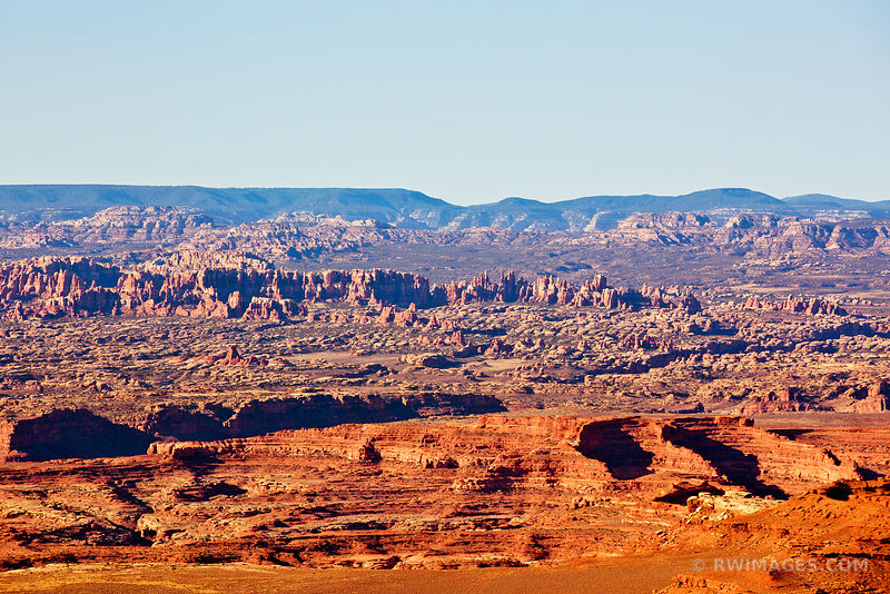 NEEDLES DISTRICT FROM GRAND VIEW POINT OVERLOOK CANYONLANDS NATIONAL PARK UTAH