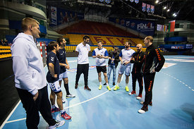 Players of Telekom Veszprem, PPD Zagreb, Meshkov Brest and Vardar  during the Final Tournament - Final Four - SEHA - Gazprom ...