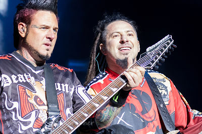 Zoltan Bathory and Jason Hook, guitar, Five Finger Death Punch