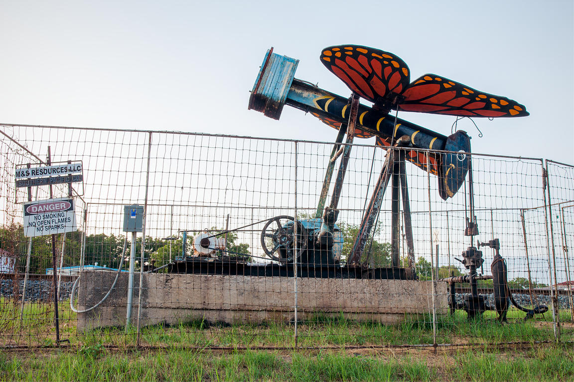 Pump Jack and Butterfly