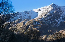 Winter summits of Nethermost & Dollywagon Pike in the Lake District, Cumbria.