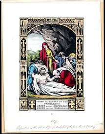 Jesus is placed in the sepulchre. 1848