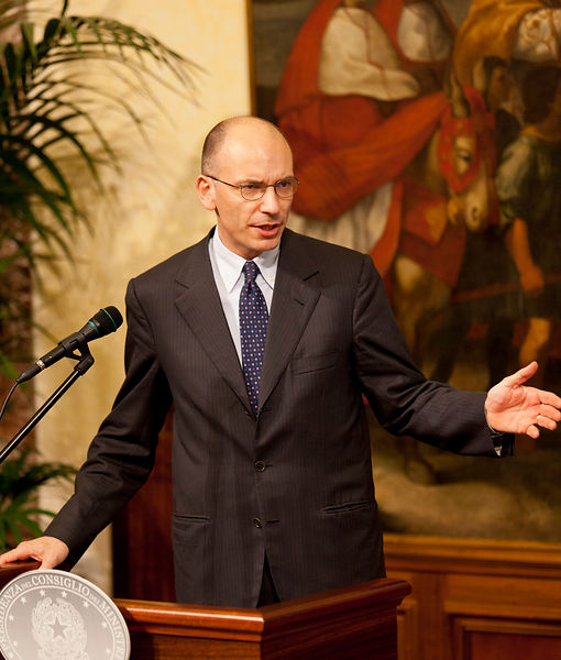 Press Conference between Enrico Letta, Italian Prime Minister and President or the European Parliament, Martin Schulz.Rome I...