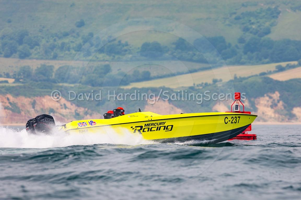 Mercury Racing, C-237, competing in the Fortitudo Poole Bay 100 Offshore Powerboat Race, 10th June 2018, 20180610096