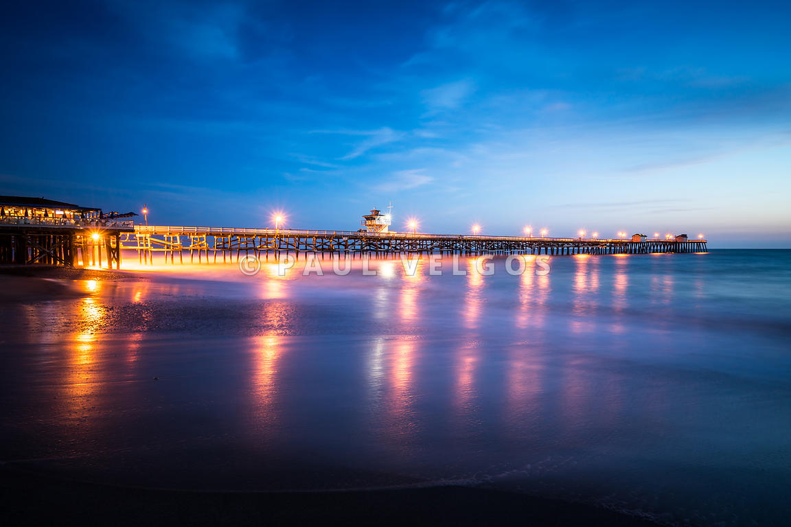 San Clemente California Pier at Sunset
