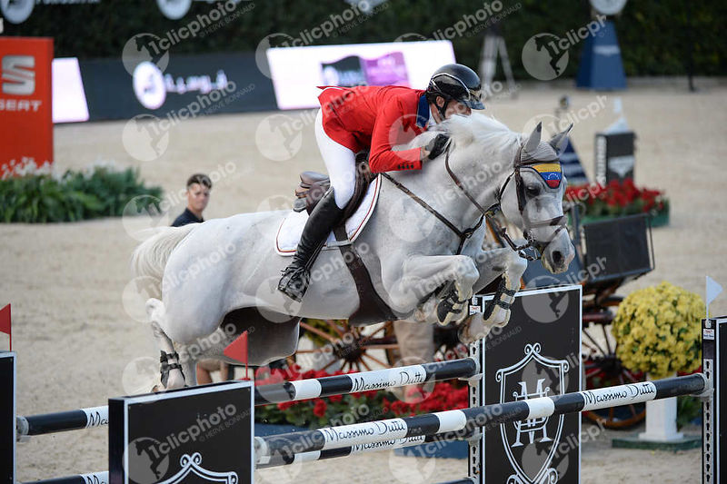 Andres RODRIGUEZ ,(VEN), DARLON VAN GROENHOVE during Longines Cup of the City of Barcelona competition at CSIO5* Barcelona at...