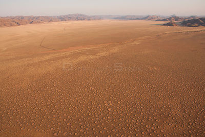 Aerial view of  Fairy Circles, Gerebes Plain, Namibia, September 2011.