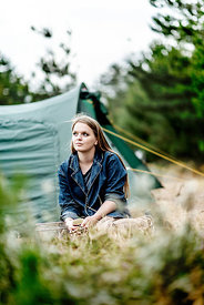 Girl camping in Denmark 8