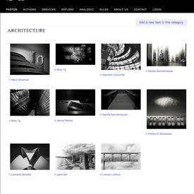 """Stained Phantoms of a Romantic Interlude"" being published into JustB&W Architecture selection and homepage photos"