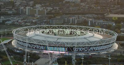 London Aerial Footage of London Stadium, Stratford