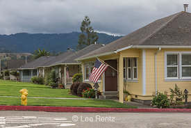 Houses in the Company Town of Scotia in Northern California