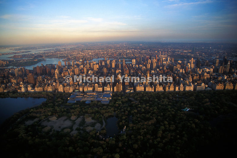 A view of Central Park and the Upper East Side.    Manhattan, New York City.