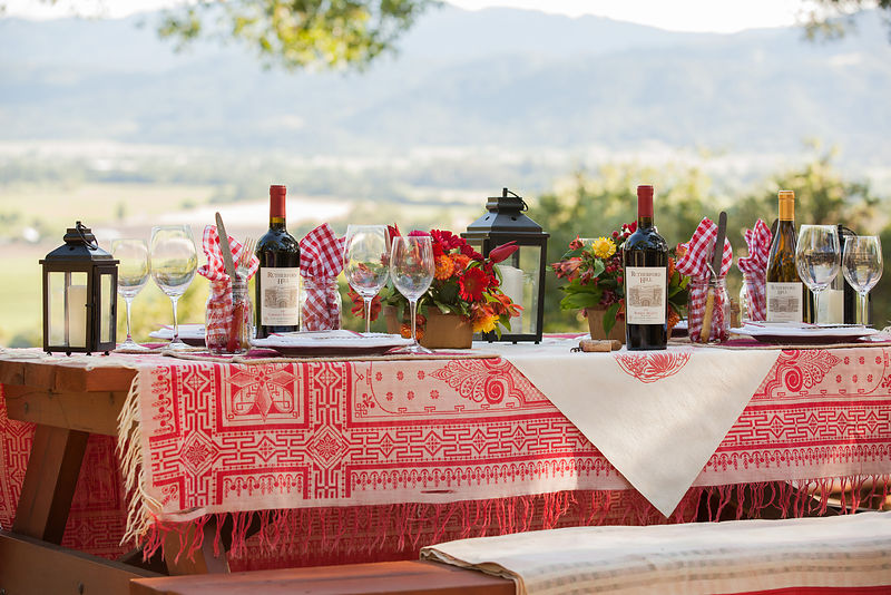 Advertising food + wine shoot for Napa winery brand. Photo by Jason Tinacci