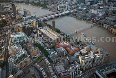 London. Aerial view of Bankside