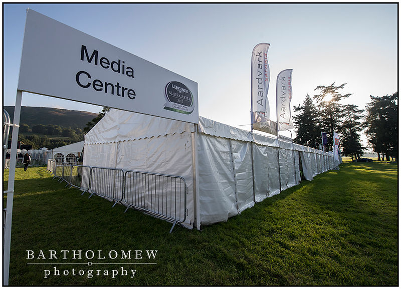 FEI European Eventing Championships 2015 Blair Castle. Access to the Media Centre and work place for the next five days.