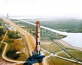 9 Oct. 1968 - Apollo 8 (Spacecraft 103Saturn 503) space vehicle on way from Kennedy Space Center's (KSC) Vehicle Assembly Bui...