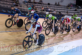 Elite/Junior Women Scratch Race. Ontario Track Championships, March 3, 2018