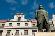 Statue of Jan Hendrik Hofmeyr, Church Square, Cape Town, South Africa