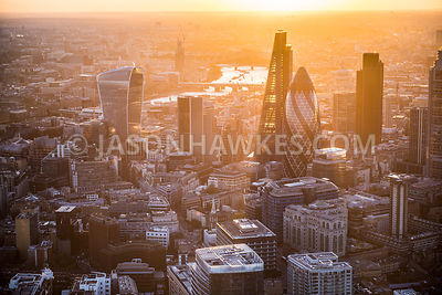 London aerial view, City of London, England, UK