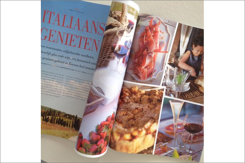 Food styling feature, Tuscany