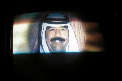 Image of Saddam in Iraqi television