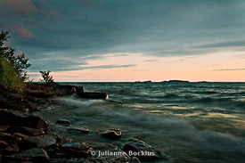 Stormy Lake Superior at Dawn