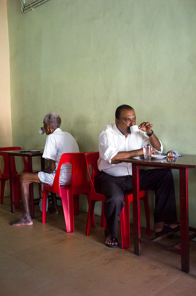 India - Chertala - Customers in the Indian Coffee House